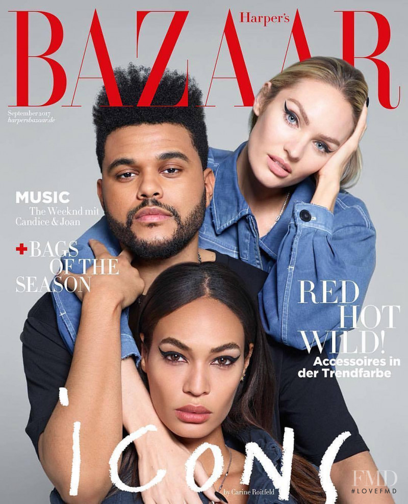 Candice Swanepoel, Joan Smalls featured on the Harper\'s Bazaar Germany cover from September 2017