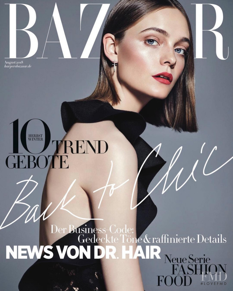 featured on the Harper\'s Bazaar Germany cover from August 2018