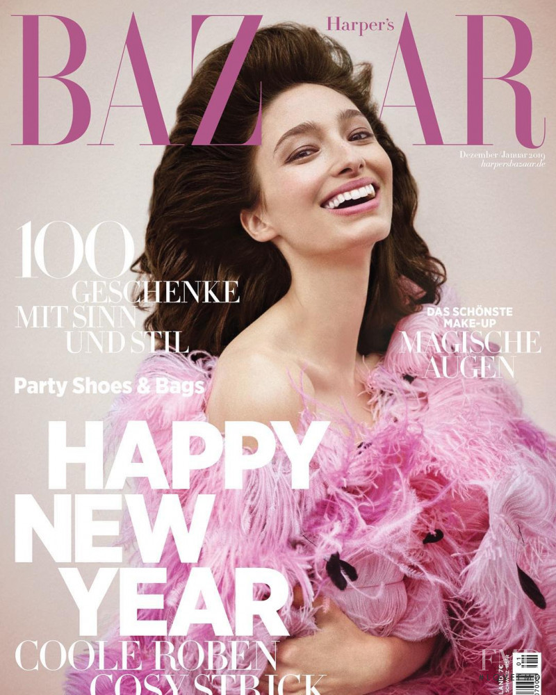 Alexandra Agoston-O\'Connor featured on the Harper\'s Bazaar Germany cover from December 2018