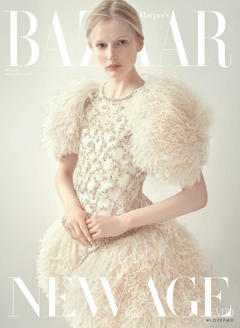Leah Rodl featured on the Harper\'s Bazaar Germany cover from May 2018