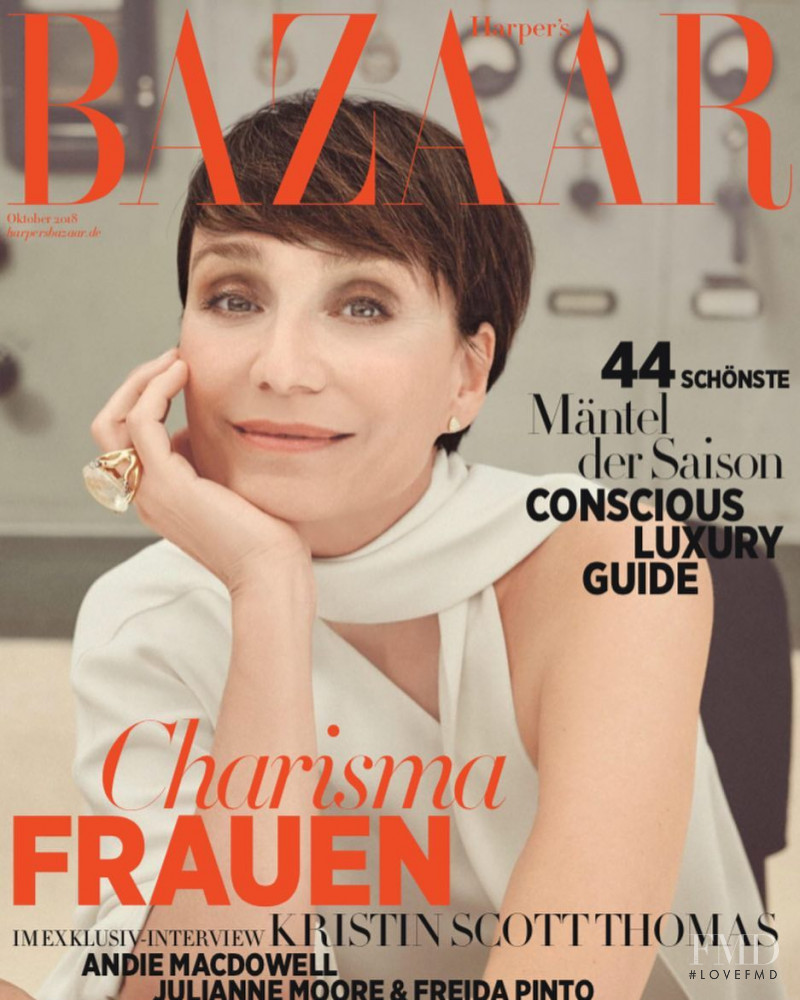 featured on the Harper\'s Bazaar Germany cover from October 2018