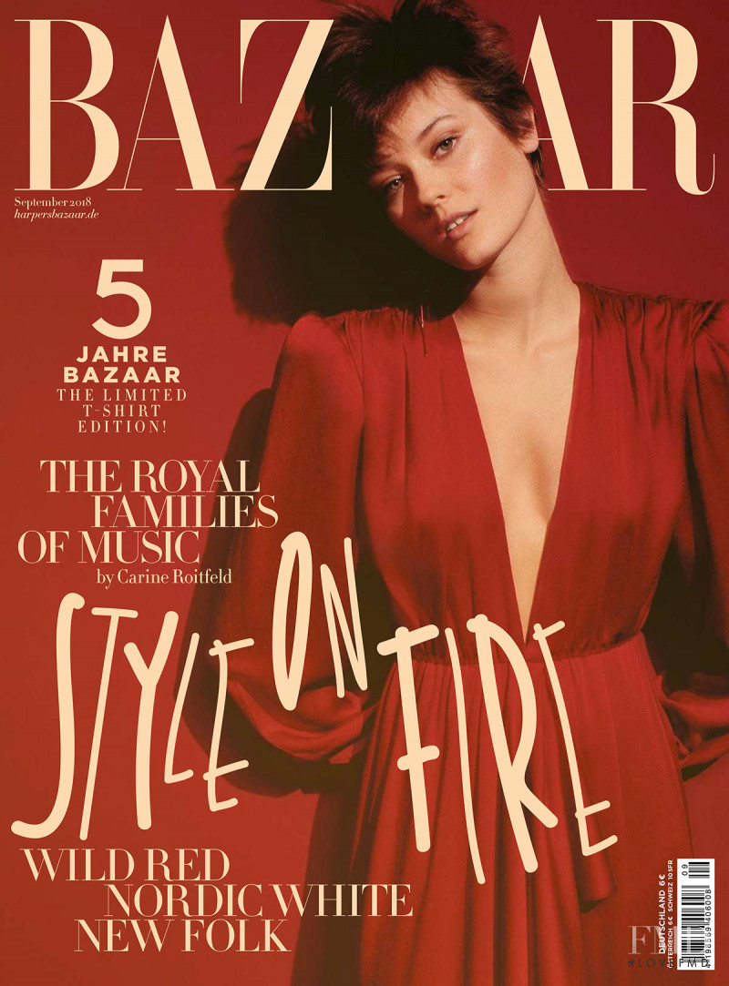Monika Jagaciak featured on the Harper\'s Bazaar Germany cover from September 2018