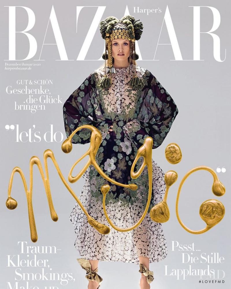 Klara Kristin featured on the Harper\'s Bazaar Germany cover from December 2019