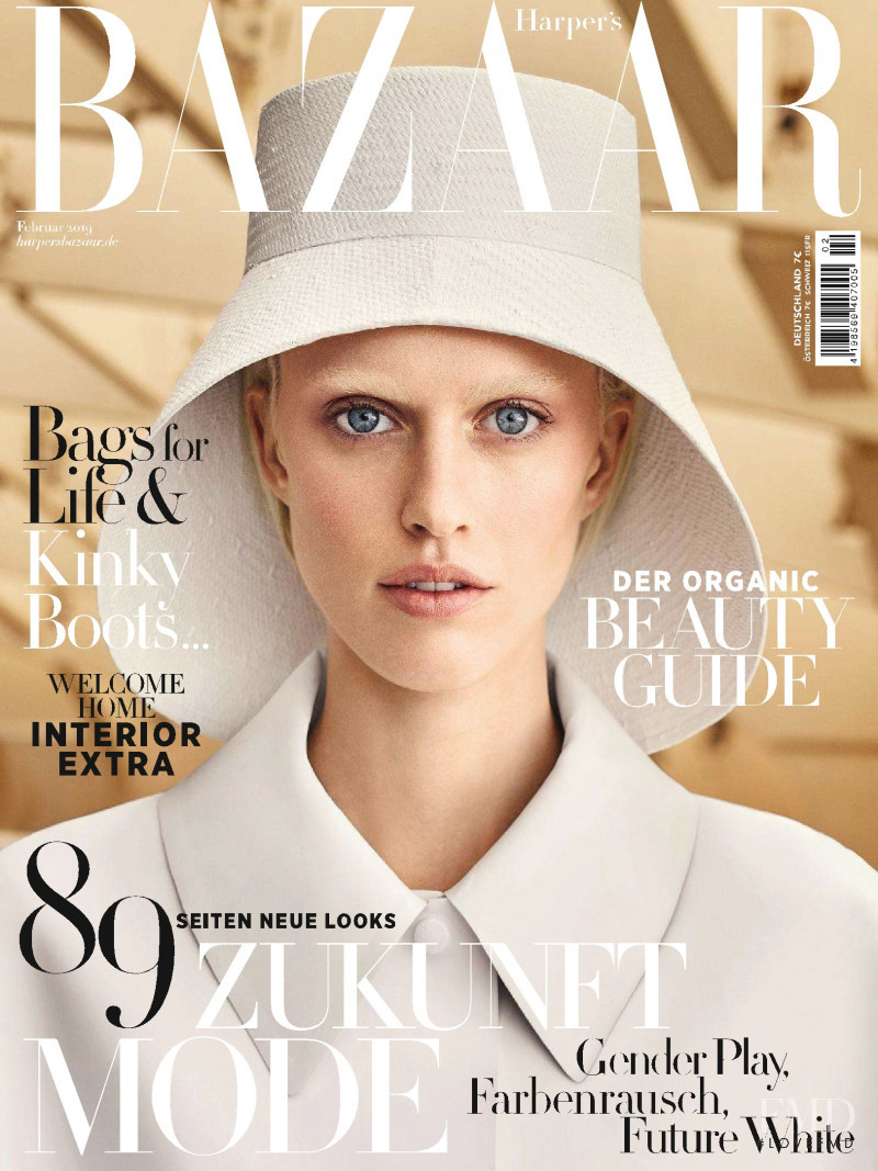 Sarah Brannon featured on the Harper\'s Bazaar Germany cover from February 2019