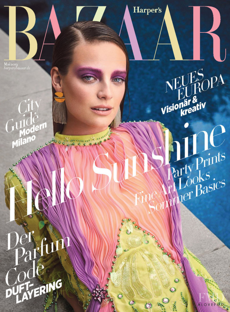 Ine Neefs featured on the Harper\'s Bazaar Germany cover from May 2019