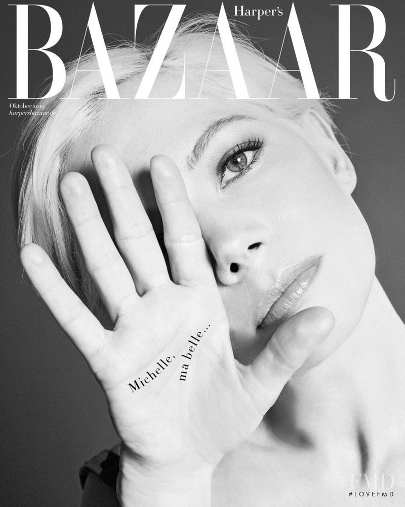 Michelle Williams featured on the Harper\'s Bazaar Germany cover from October 2019