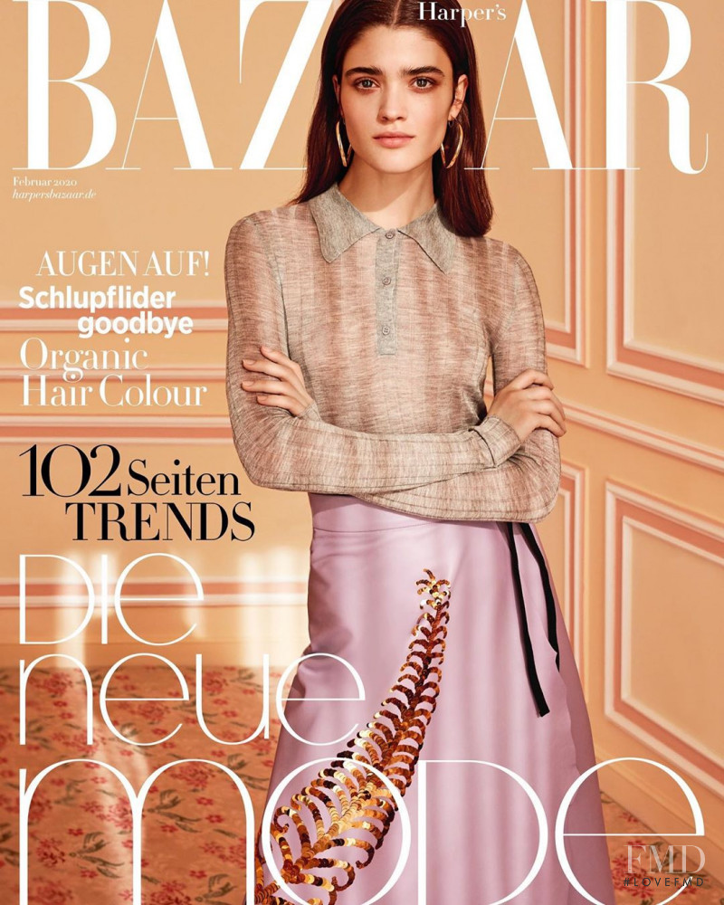 Alexandra Maria Micu featured on the Harper\'s Bazaar Germany cover from February 2020