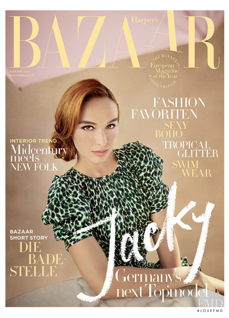 Jacqueline Wruck featured on the Harper\'s Bazaar Germany cover from June 2020