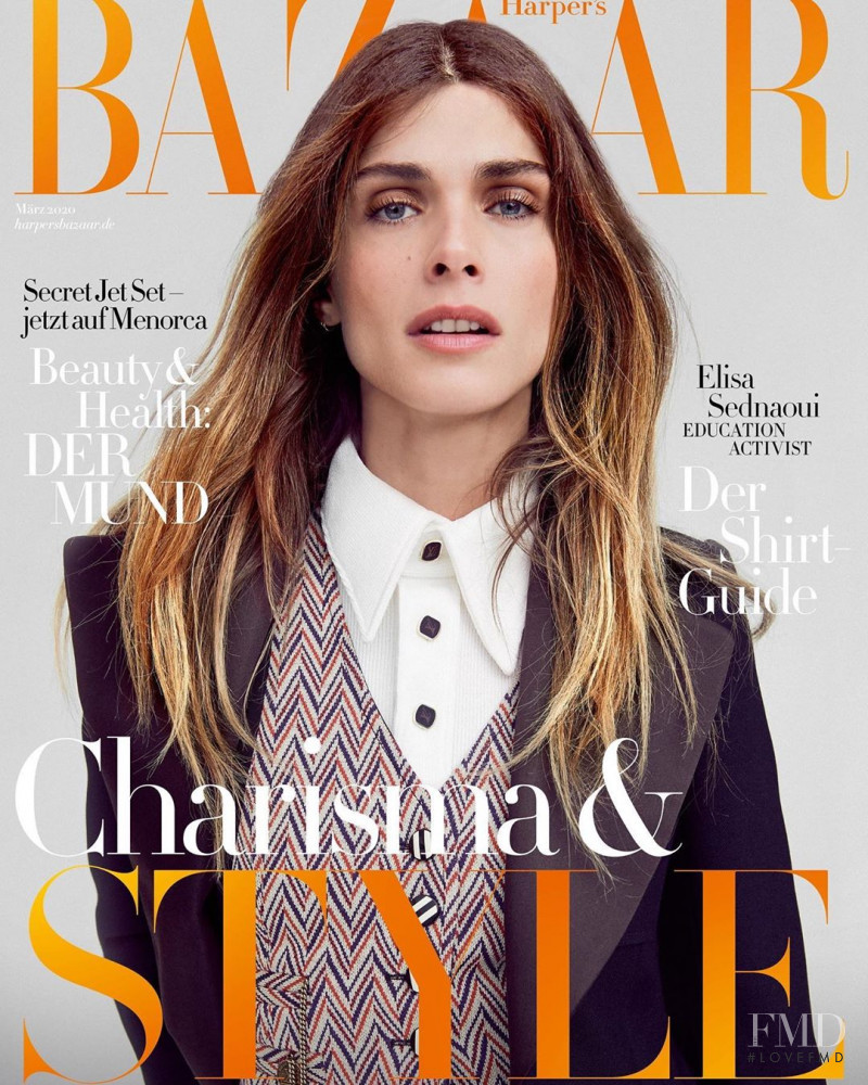 Elisa Sednaoui featured on the Harper\'s Bazaar Germany cover from March 2020