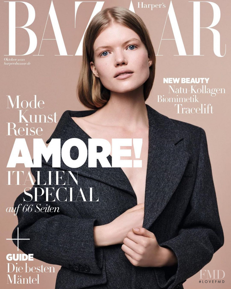 Madeleine Fischer featured on the Harper\'s Bazaar Germany cover from October 2020