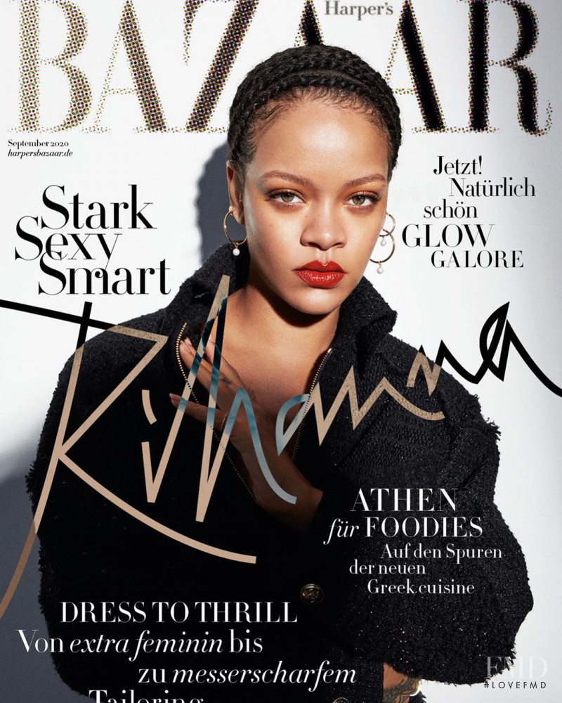 Rihanna featured on the Harper\'s Bazaar Germany cover from September 2020