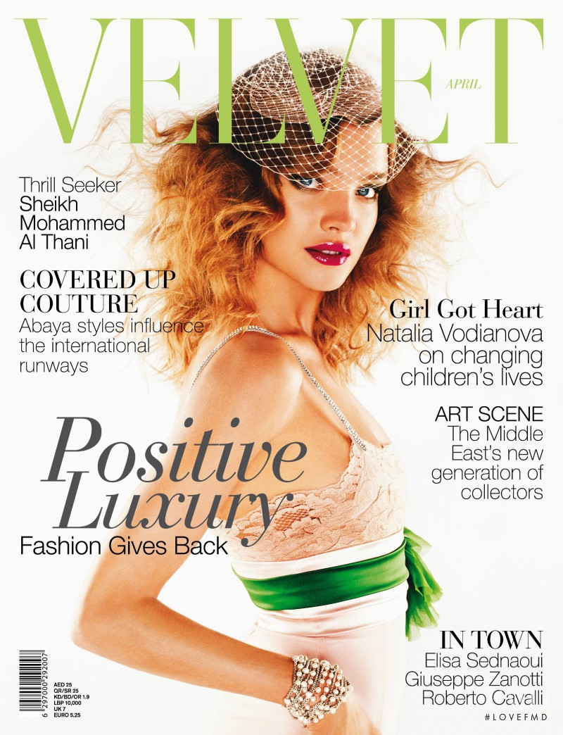 Natalia Vodianova featured on the Velvet United Arab Emirates cover from April 2012