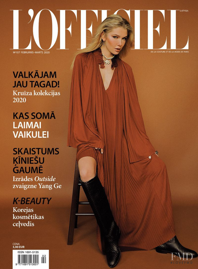 Anastasia Belotskaya featured on the L\'Officiel Latvia cover from February 2020
