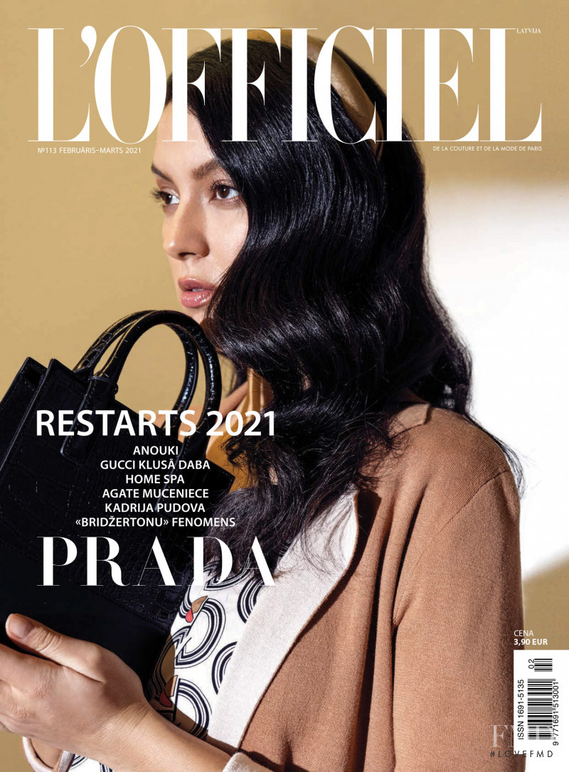 featured on the L\'Officiel Latvia cover from February 2021