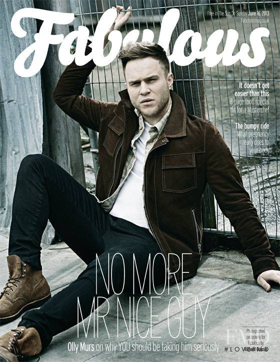 Olly Murs featured on the Fabulous cover from June 2013