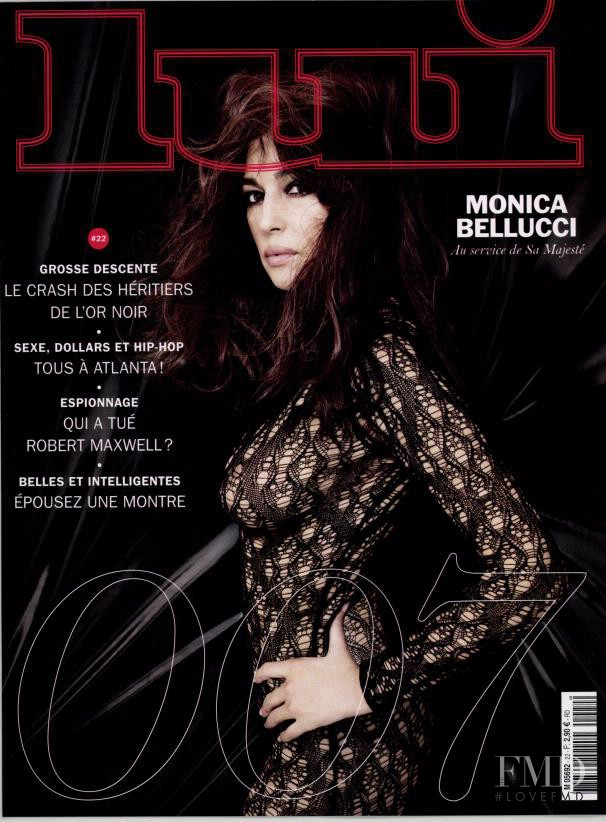 Monica Bellucci featured on the Lui France cover from November 2015