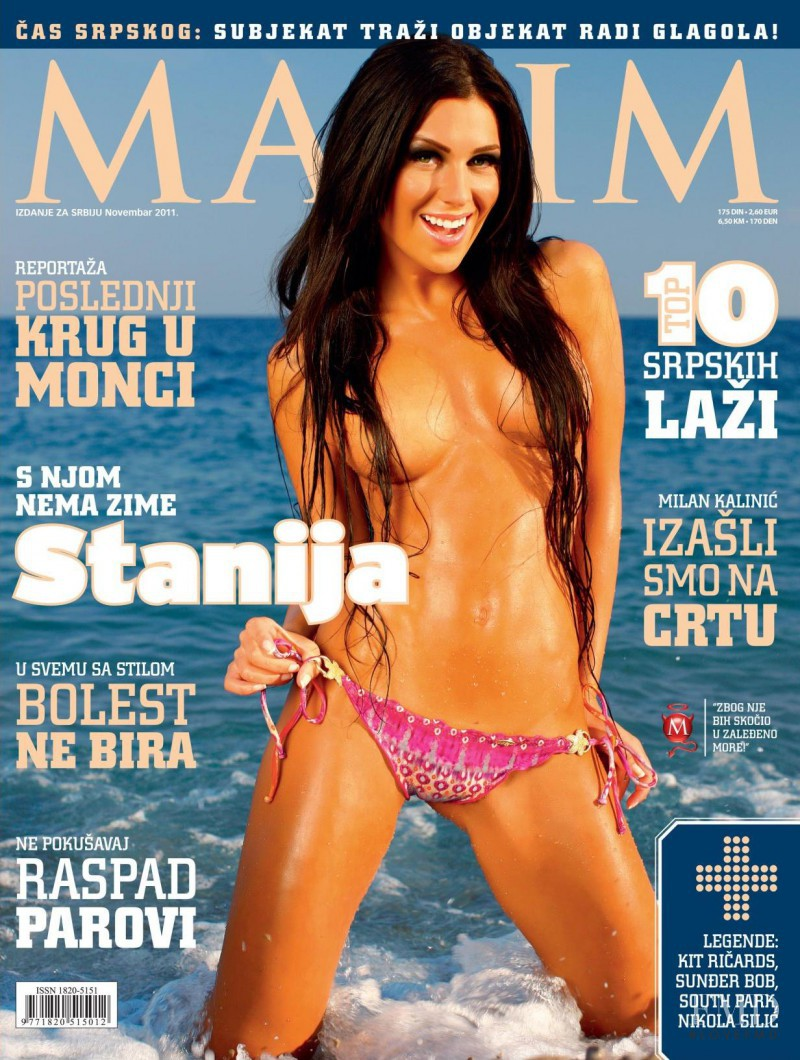 Stanija Dobrojevic featured on the Maxim Serbia cover from November 2011