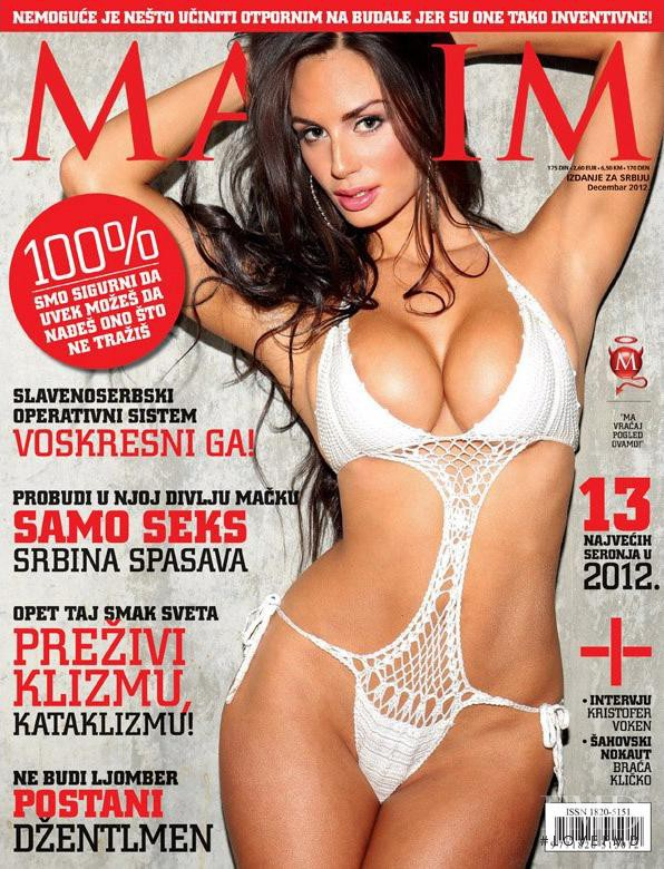 Rosie Roff featured on the Maxim Serbia cover from December 2012