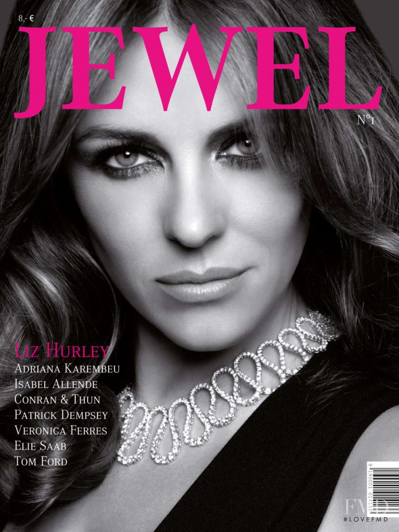 Cover Of Jewel Magazine With Elizabeth Hurley, September