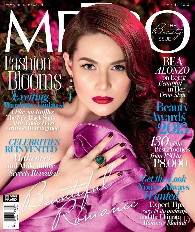 Bea Alonzo featured on the Metro cover from April 2013