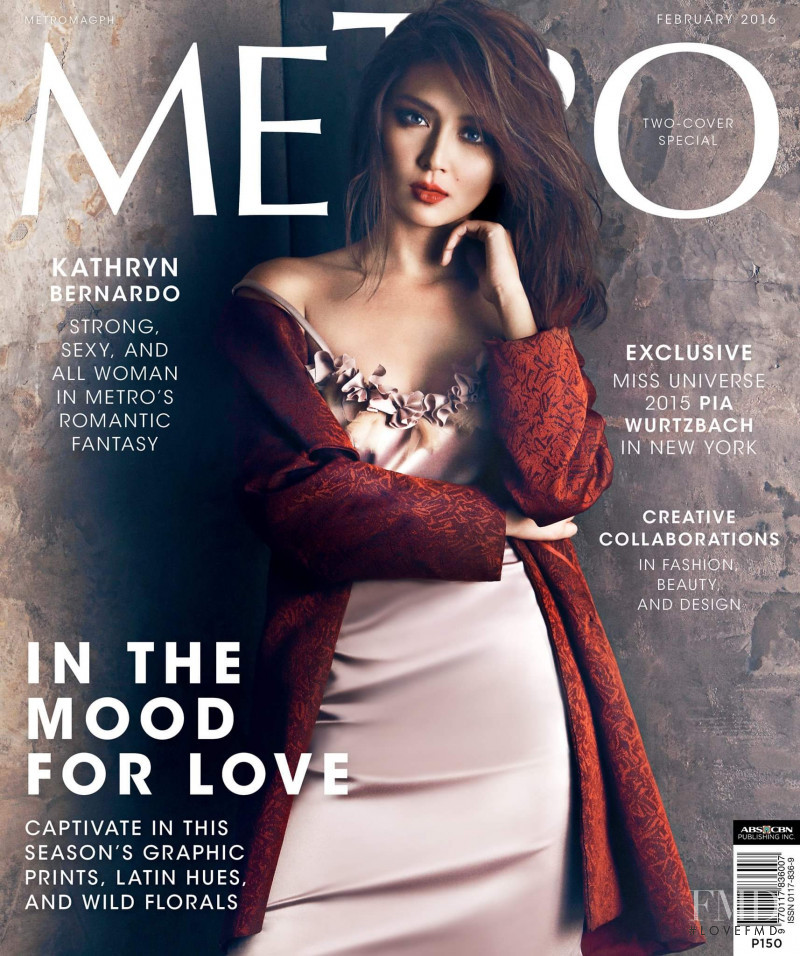 Kathryn Bernardo featured on the Metro cover from February 2016