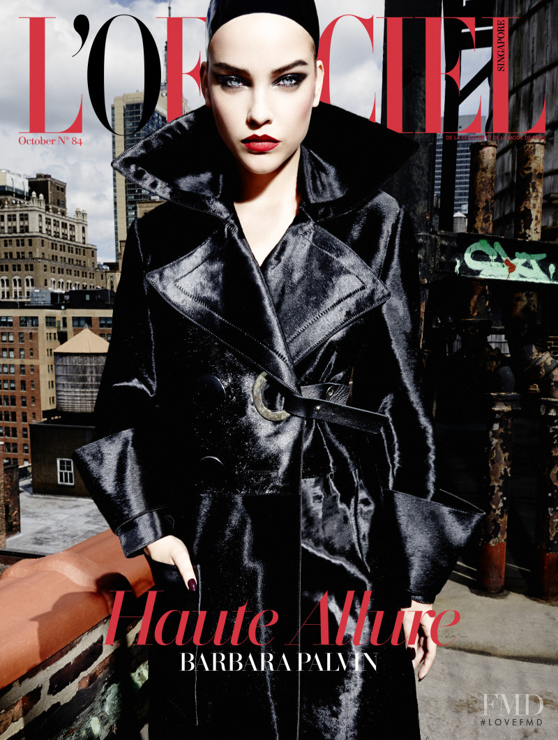 Barbara Palvin featured on the L\'Officiel Singapore cover from October 2015
