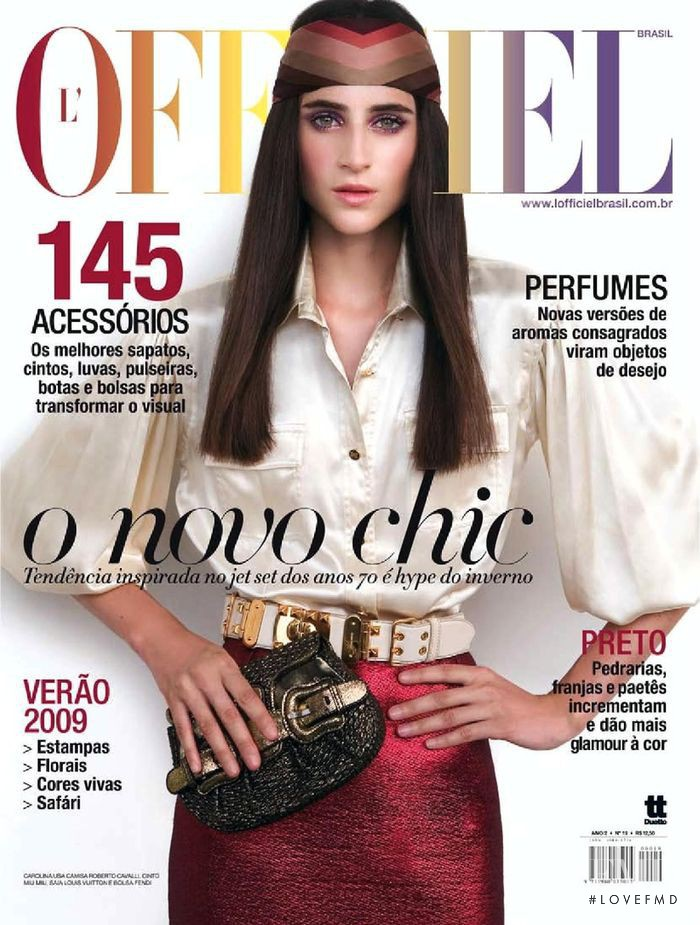 Carolina Pantoliano featured on the L\'Officiel Brazil cover from April 2008