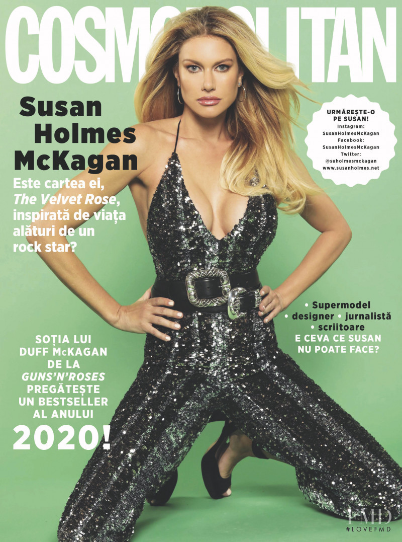 Susan Holmes featured on the Cosmopolitan Romania cover from January 2020