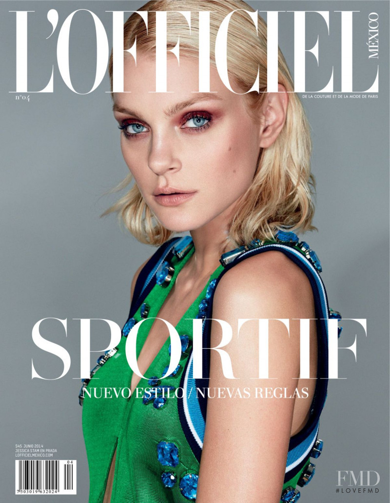 Jessica Stam featured on the L\'Officiel Mexico cover from June 2014