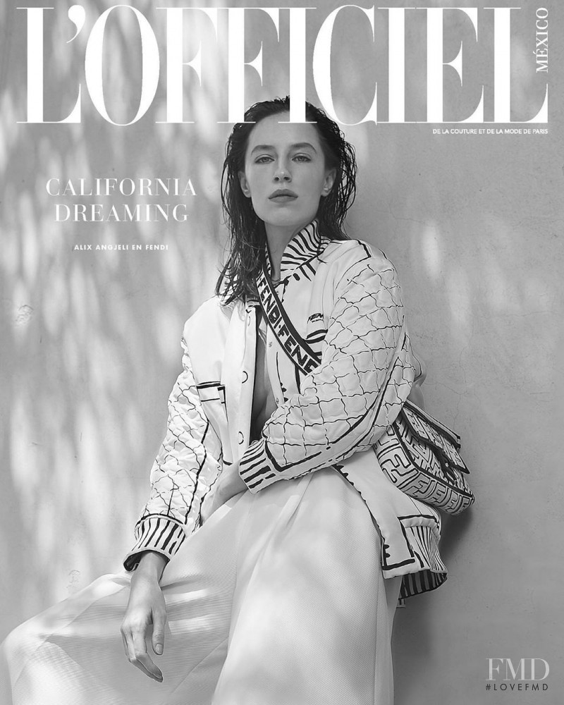 Alix Angjeli featured on the L\'Officiel Mexico cover from June 2020
