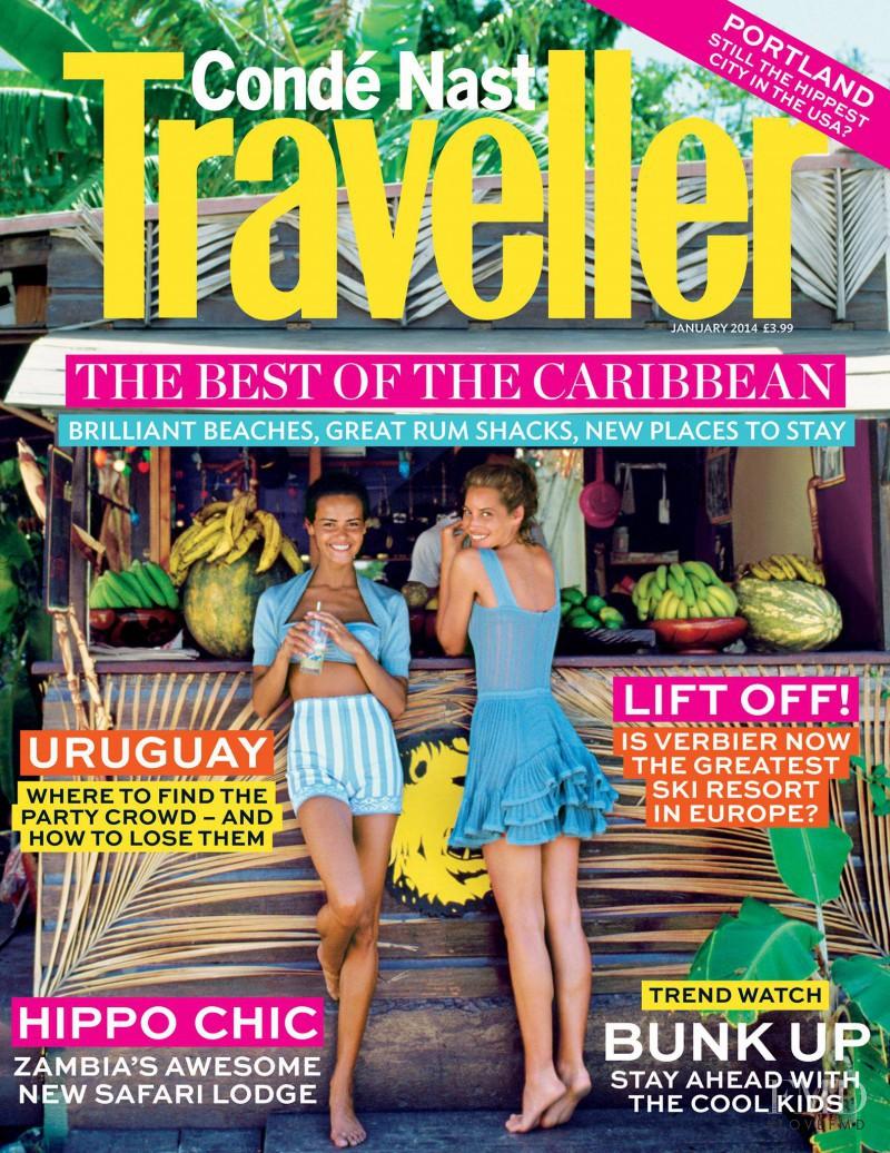 Christy Turlington, Nadege du Bospertus featured on the Condé Nast Traveller UK cover from January 2014