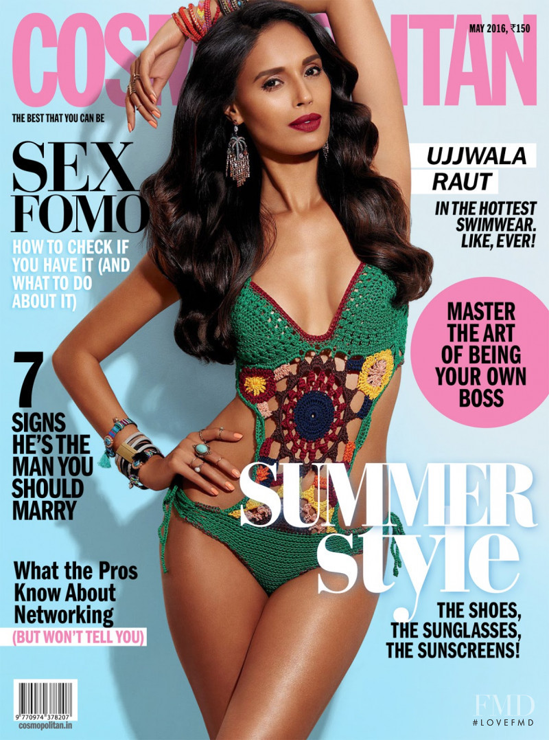 Ujjwala Raut featured on the Cosmopolitan India cover from May 2016