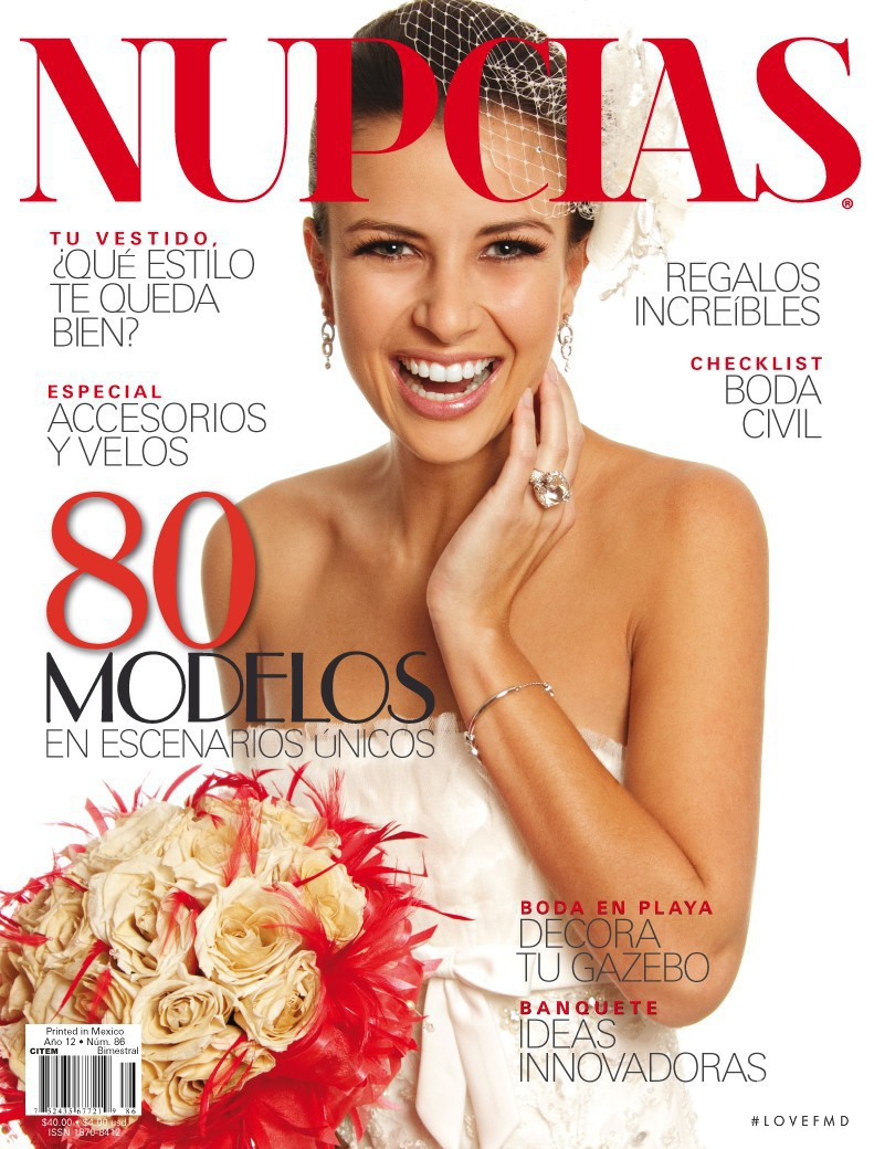 5332753ac Carol Andrade featured on the Nupcias Magazine cover from December 2010
