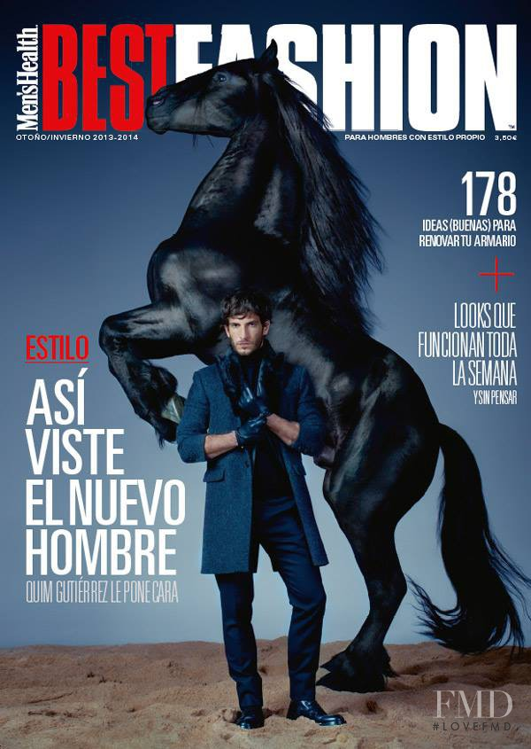 Quim Gutiérrez featured on the Men\'s Health Best Fashion cover from October 2013