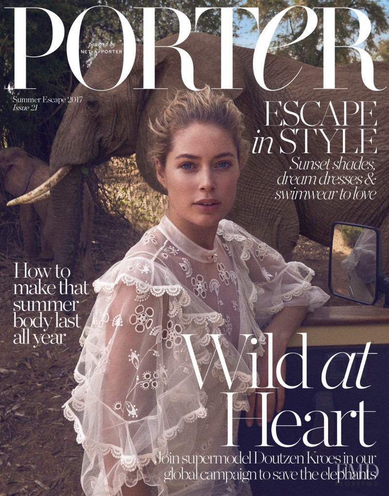 Doutzen Kroes featured on the Porter cover from June 2017