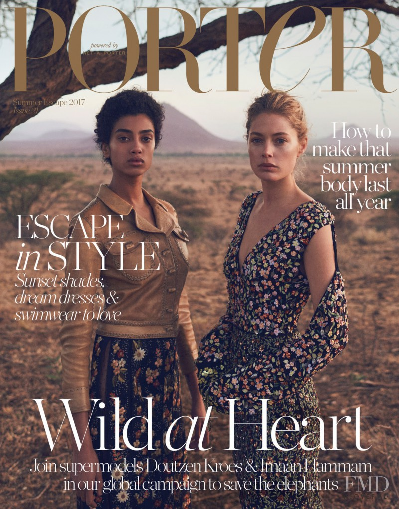 Doutzen Kroes, Imaan Hammam featured on the Porter cover from June 2017