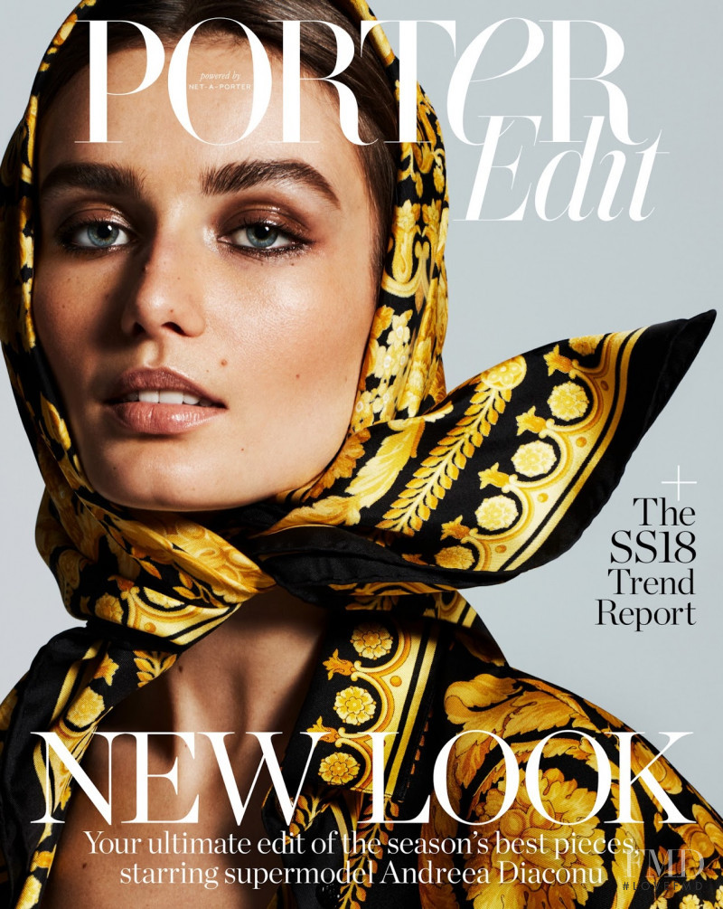 Andreea Diaconu featured on the Porter cover from February 2018