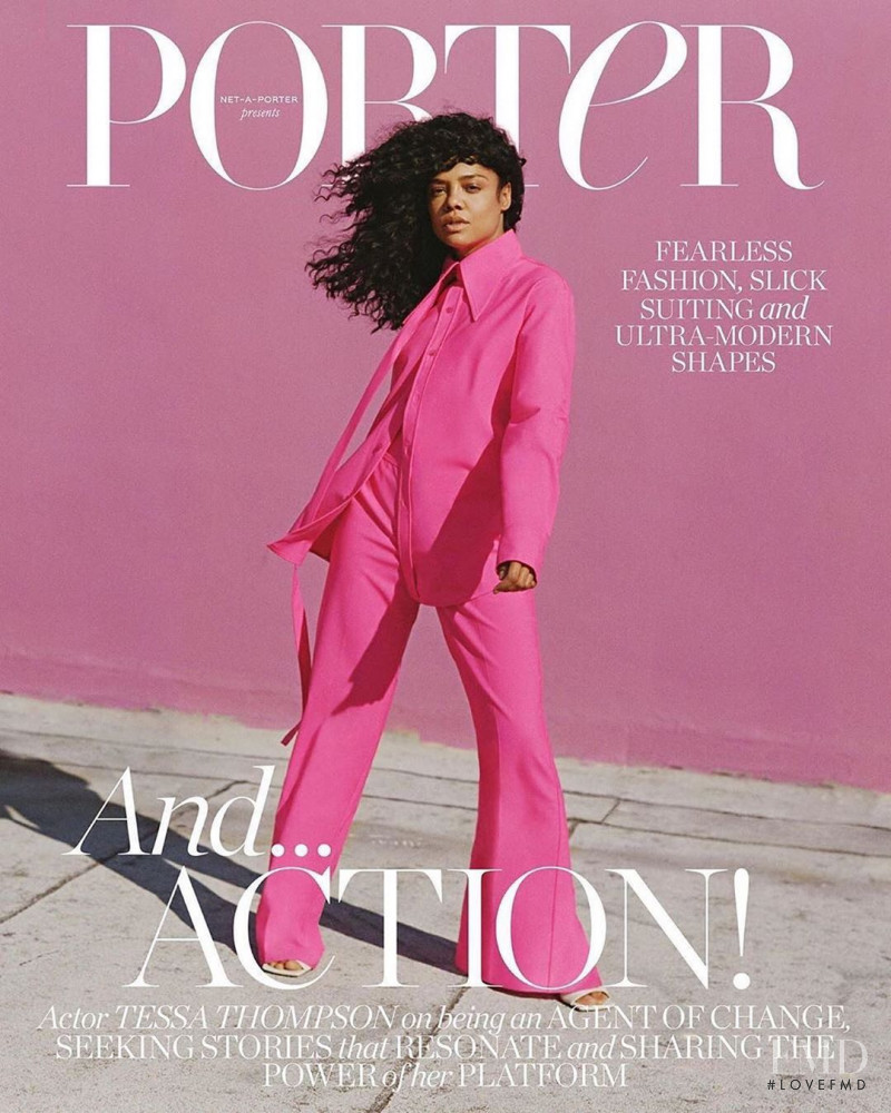 Tessa Thompson  featured on the Porter cover from August 2020
