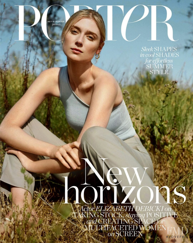 Elizabeth Debicki  featured on the Porter cover from July 2020