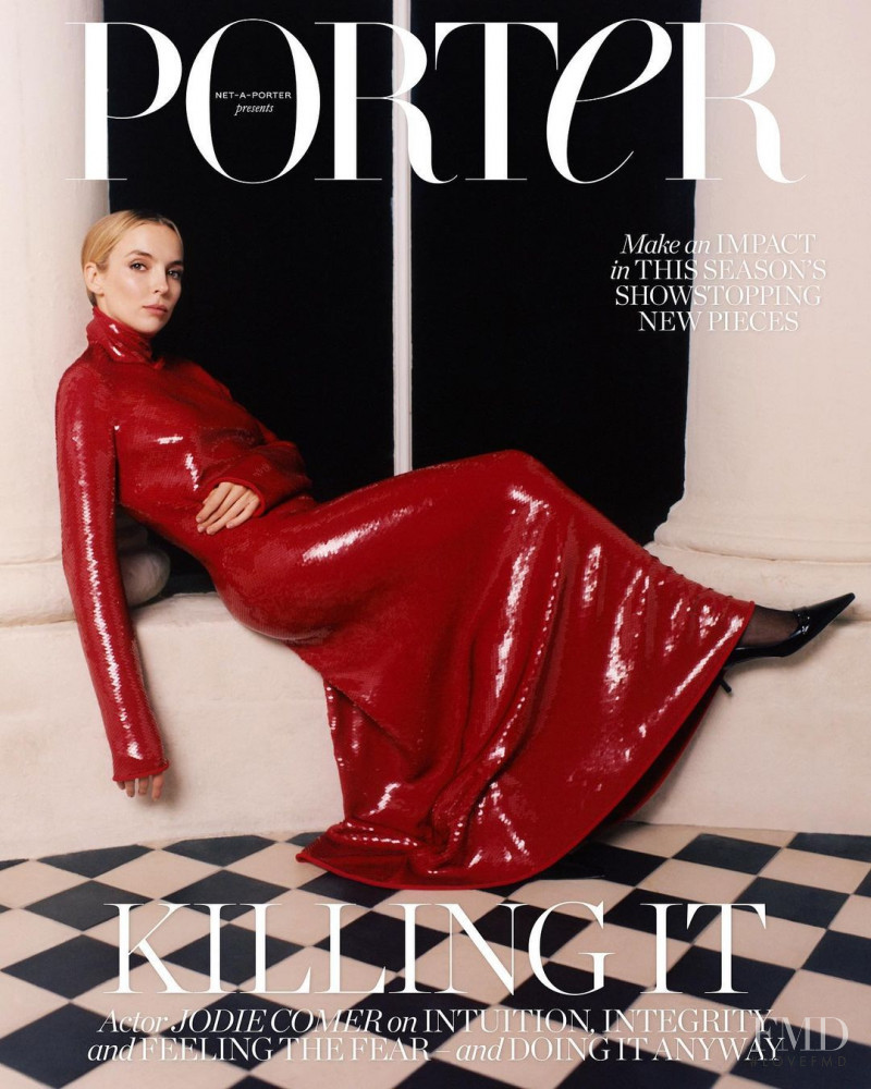 Jodie Comer featured on the Porter cover from November 2020