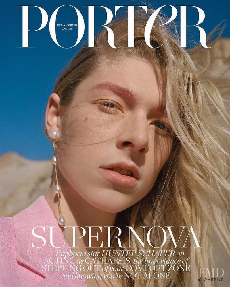 Hunter Schafer featured on the Porter cover from January 2021