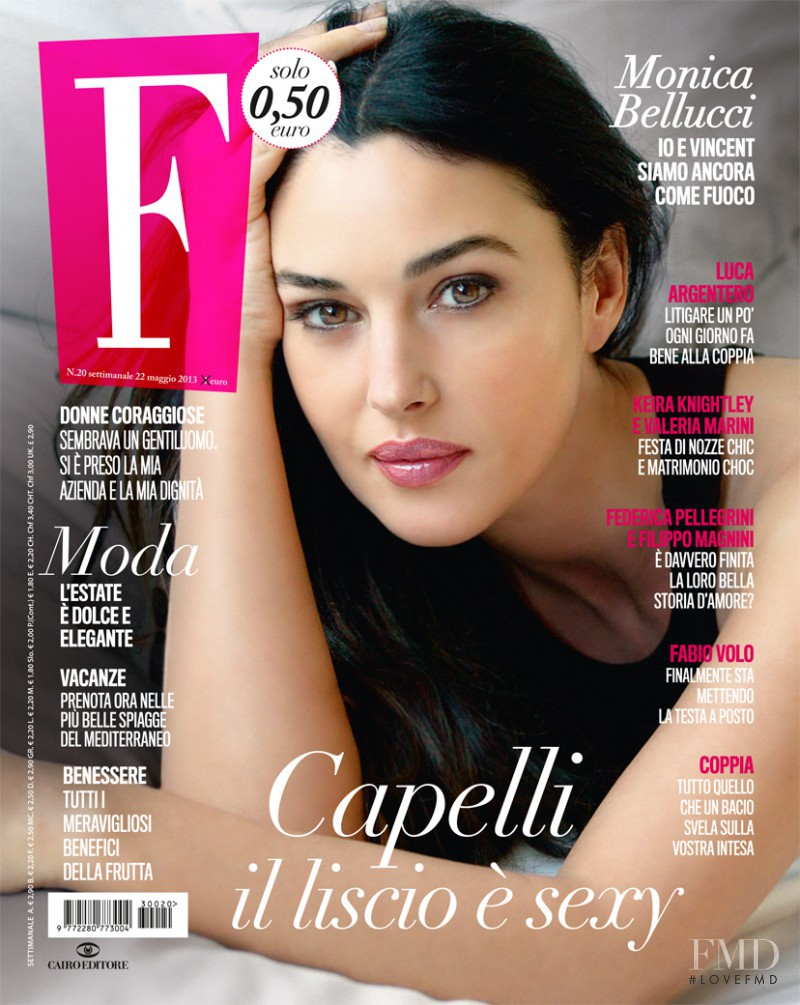 Monica Bellucci featured on the F cover from May 2013