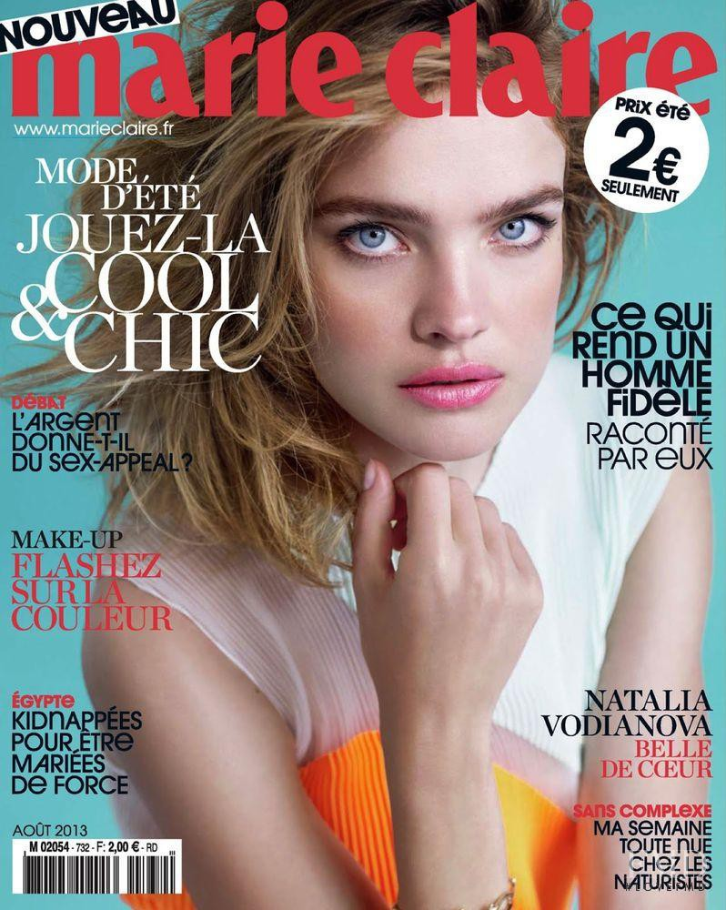 Natalia Vodianova featured on the Marie Claire France cover from August 2013