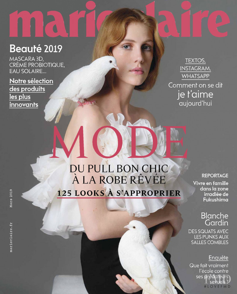 Liv Sillinger featured on the Marie Claire France cover from March 2019