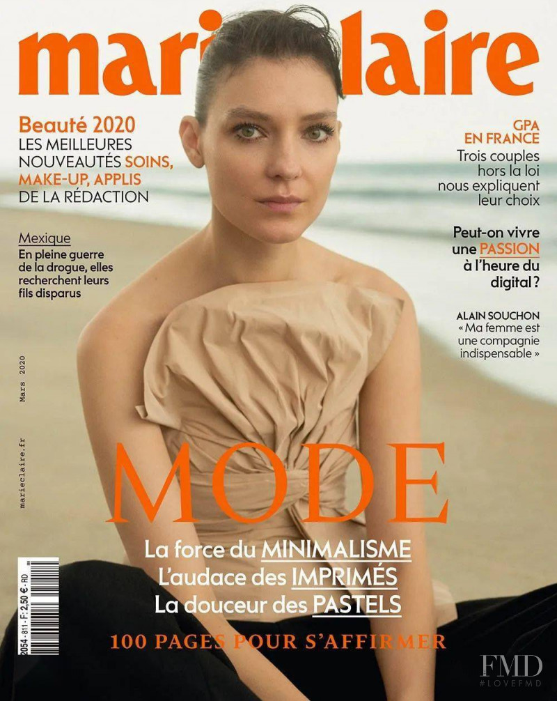 Kati Nescher featured on the Marie Claire France cover from March 2020