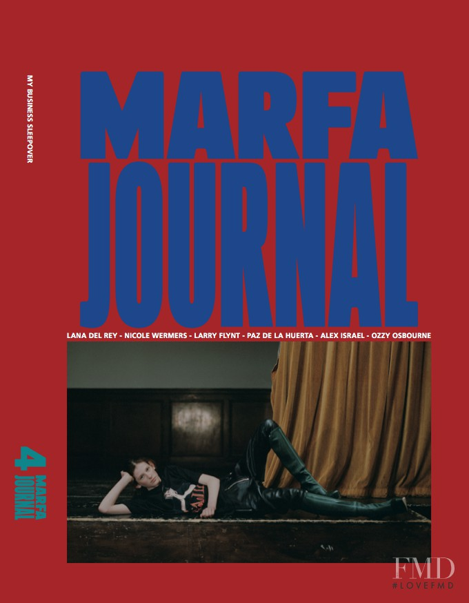 Freya Lawrence featured on the Marfa Journal cover from September 2015