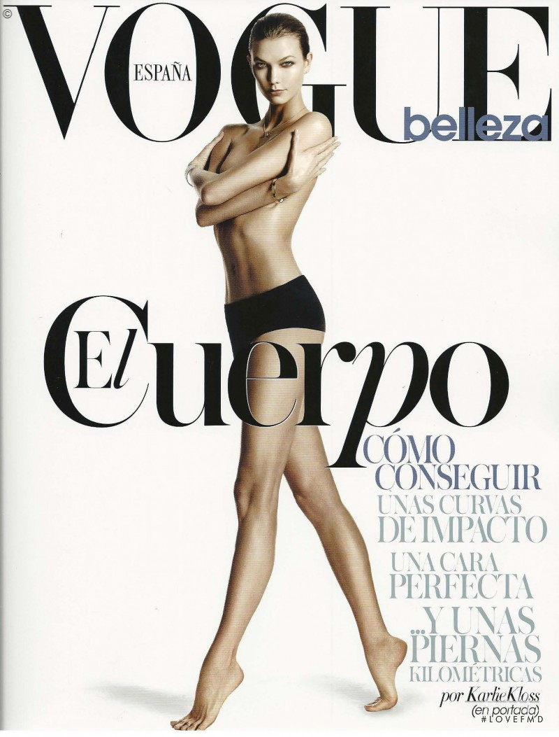 Karlie Kloss featured on the Vogue Belleza cover from May 2014