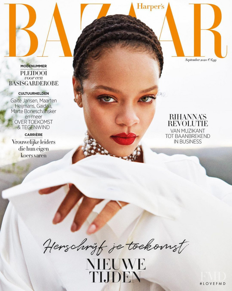 Rihanna featured on the Harper\'s Bazaar Netherlands cover from September 2020