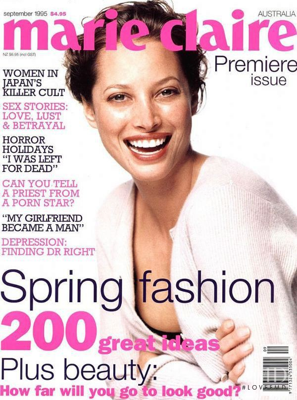 Christy Turlington featured on the Marie Claire Australia cover from September 1995