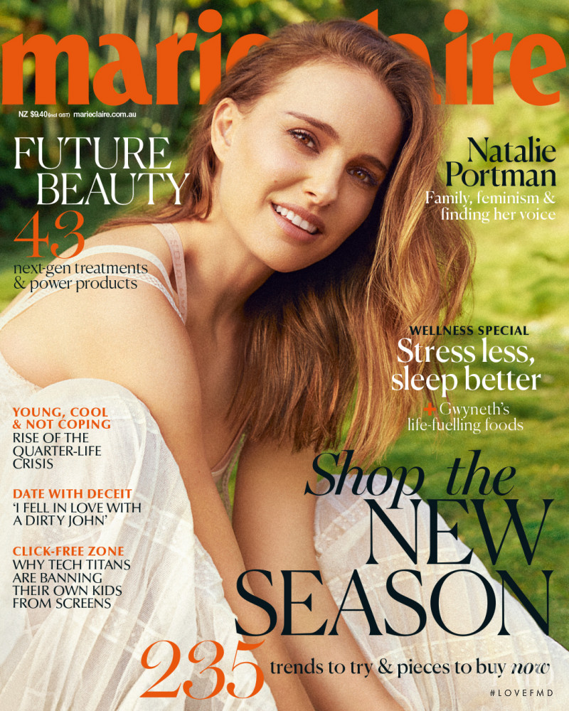 Natalie Portman featured on the Vogue Australia cover from May 2019